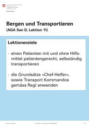 Bergen und Transportieren (AGA San D, Lektion 11) - SMSV