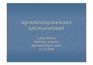 Esitys - Suomen Maataloustieteellinen Seura ry