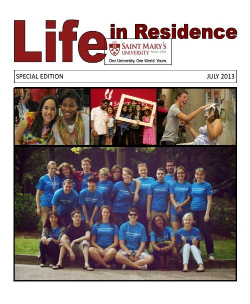 SPECIAL EDITION JULY 2013 - Saint Mary's University