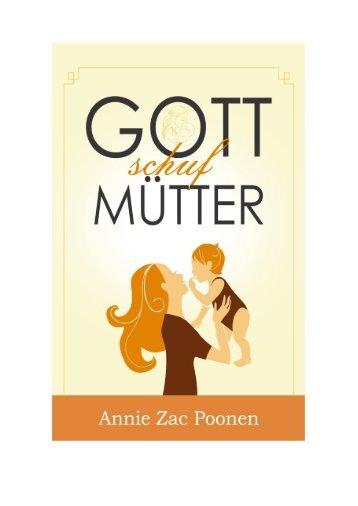 Gott schuf Mütter - Annie Zac Poonen