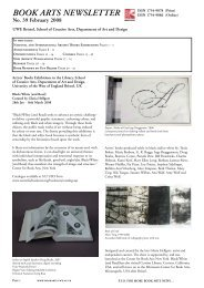 BOOK ARTS NEWSLETTER No. 39 February 2008