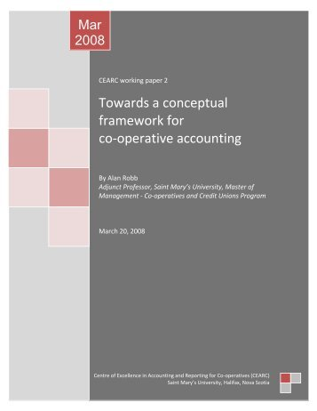 Conceptual framework of cooperative accounting