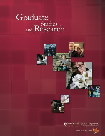 Graduate and Research - Saint Mary's University