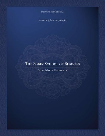 Information Brochure - Saint Mary's University