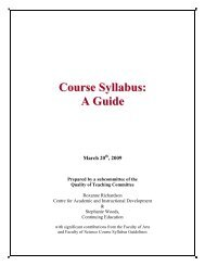 Course Syllabus Guide - Saint Mary's University