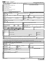 Social Insurance Number Application Form - The Centre-CARES