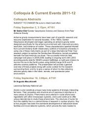 Colloquia & Current Events 2011-12 - Saint Mary's University