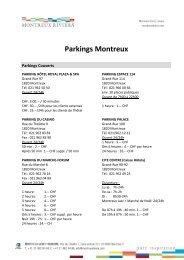 Parkings Montreux
