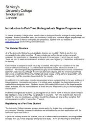 Introduction to Part-Time Undergraduate Degree Programmes