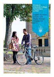 English Language Summer School - St Mary's University College