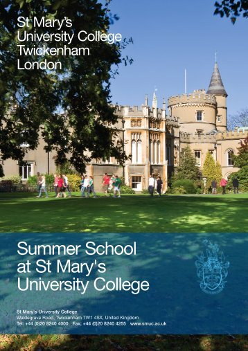 Summer School brochure - St Mary's University College