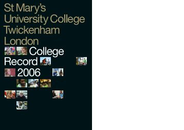 Annual Report (College Record) 2006 - St Mary's University College