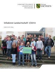 Infodienst Landwirtschaft 1/2014 - Sächsisches Staatsministerium ...