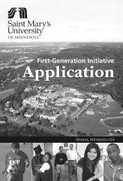 First-Generation Initiative - Saint Mary's University of Minnesota