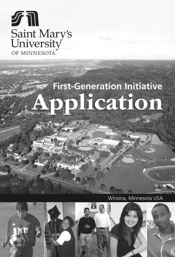 First-Generation Initiative - Saint Mary's University of Minnesota