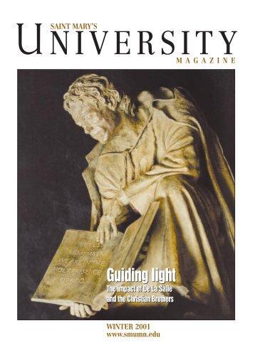 SMU Magazine Winter 2001 - Saint Mary's University of Minnesota