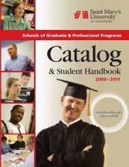 & Student Handbook - Saint Mary's University of Minnesota