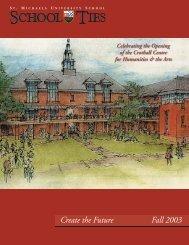 Create the Future Fall 2003 - St. Michaels University School