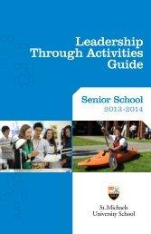 Leadership Through Activities Guide - St. Michaels University School