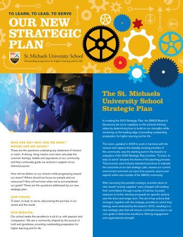 Strategic Plan 2012 - St. Michaels University School