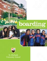Boarding Viewbook - St. Michaels University School