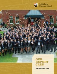 Our Report Card 2011-2012 - St. Michaels University School