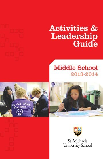 Activities & Leadership Guide - St. Michaels University School
