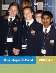 Our Report Card 2009-2010 - St. Michaels University School