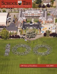 100 Years of Excellence Fall 2005 - St. Michaels University School
