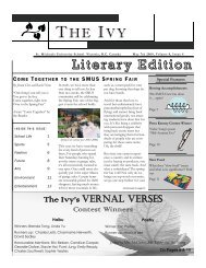 The Ivy: 2009, May Issue - St. Michaels University School