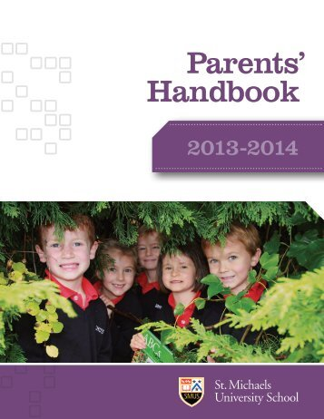 Parents' Handbook 2013-2014 - St. Michaels University School