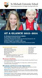 at a glance 2012 – 2013 - St. Michaels University School