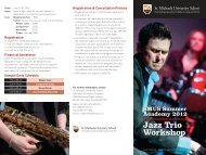 Jazz Trio Workshop - St. Michaels University School