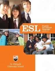 ESL Viewbook - St. Michaels University School
