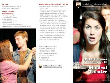 Summer Musical Theatre Academy Brochure - St. Michaels ...