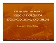 permanent-magnet helicon sources for etching, coating, and thrust