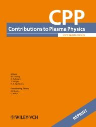 ContributionstoPlasmaPhysics - DOE Plasma Science Center