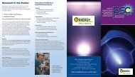 - Research in the Center - DOE Plasma Science Center - University ...