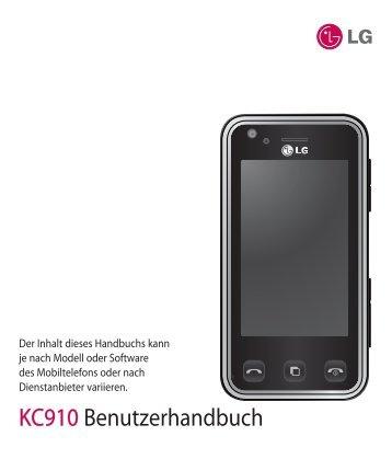 KC910 Benutzerhandbuch - Altehandys.de
