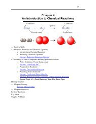 Study Guide Chapter 4: An Introduction to Chemical Reactions