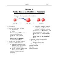 Chapter 8 Acids, Bases, and Acid-Base Reactions - An Introduction ...