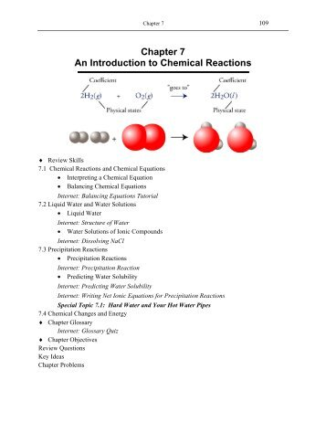 introduction to chemical reactions Wwwwileycom.