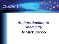 PowerPoint Chapter 1 - An Introduction to Chemistry
