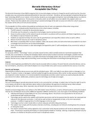 Barnette Elementary School Acceptable Use Policy