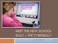 Bullying in the school setting - CMS School Web Sites