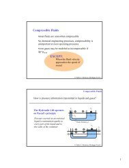 Compressible Fluids EXCEPT: - Chemical Engineering