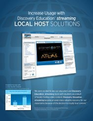 LoCaL HoSt SolutionS - Discovery Education