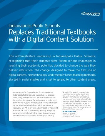 Replaces Traditional Textbooks with a Digital Content Solution
