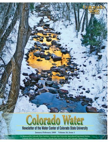 January/February 2009 Volume 26, Issue 1 - Colorado State ...