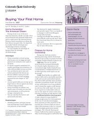 Buying Your First Home - Colorado State University Extension